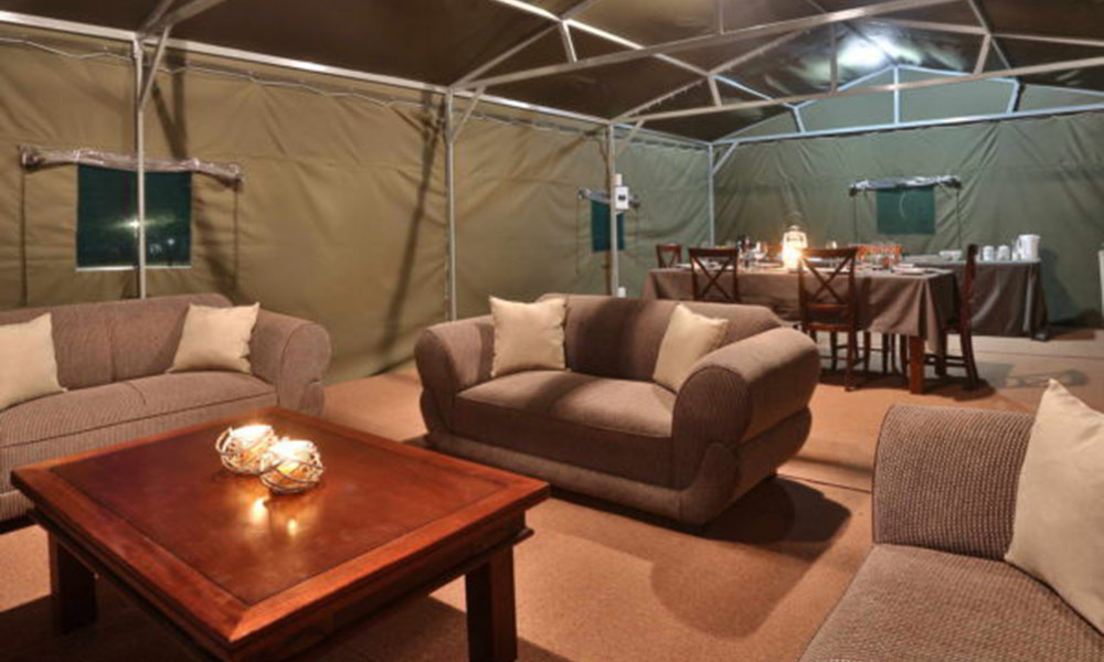 Lounge @ Tented Adventures at the Manyane Resort